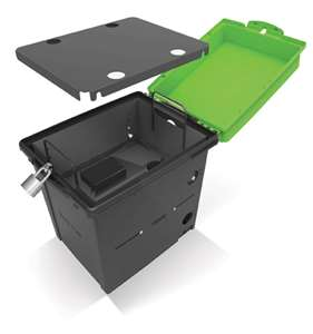 Lower compartment is used for mounting USB hubs (when storing Dash and Dots) or to hold accessories (when storing Spheros)