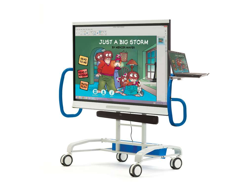 iRover2™ for Interactive Flat Panels with optional sound bar mount