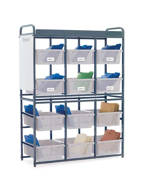 Storage Room Organizer for Leveled Literacy Programs with Clear Tubs