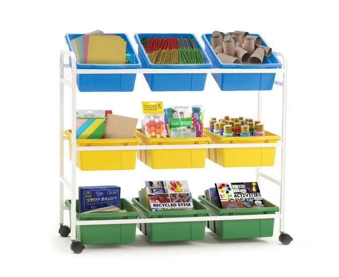 Book Browser Cart- can be used to hold and organize various STEM materials