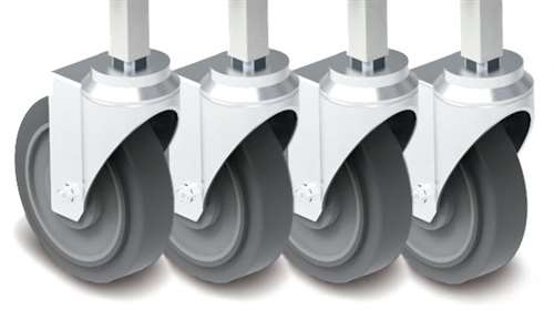 "Durable 5"" casters (2 locking)"
