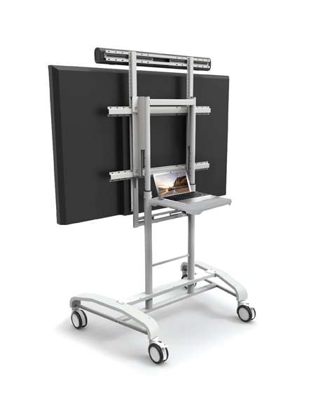 iRover2 for Interactive Flat Panels - Base Model (optional sound bar mounted on top)