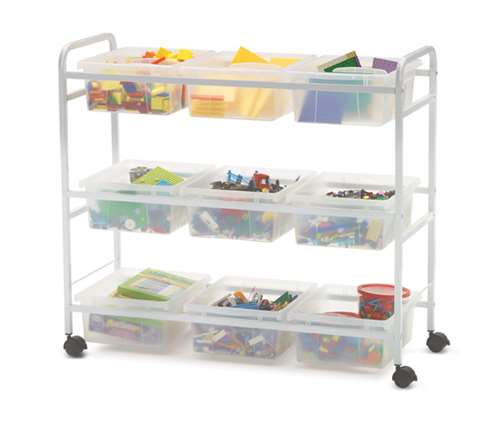 Clear STEM Storage Cart