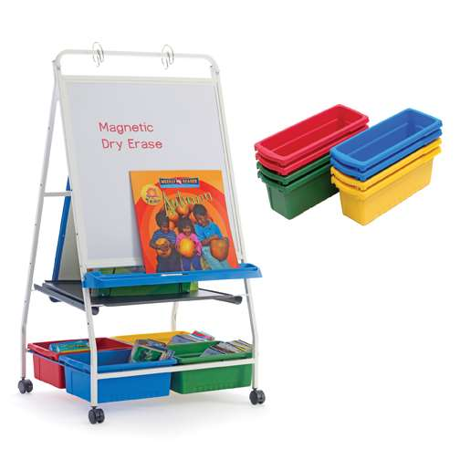 Classic Royal® Reading Writing Center with 8 Small Open Tubs