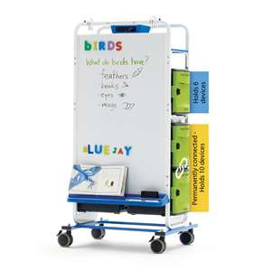 Dual Duty Teaching Easel - holds 32 iPads