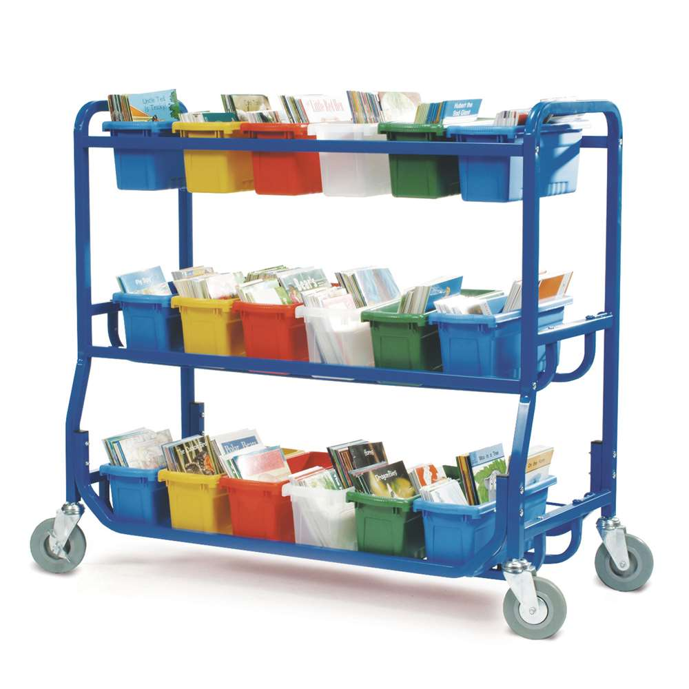 Library on Wheels™ with 18 Small Tubs