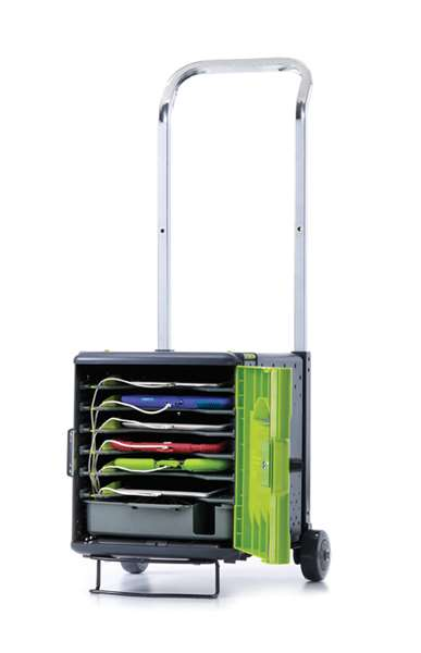 Tech Tub2 Trolley with 5 shelves (6 devices, 2 stacked)