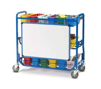 STEM Storage Cart back view with dry erase board
