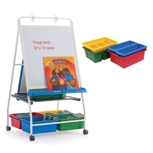 Classic Royal® Reading Writing Center with 2 Small, 1 Large, and 2 Divided Tubs