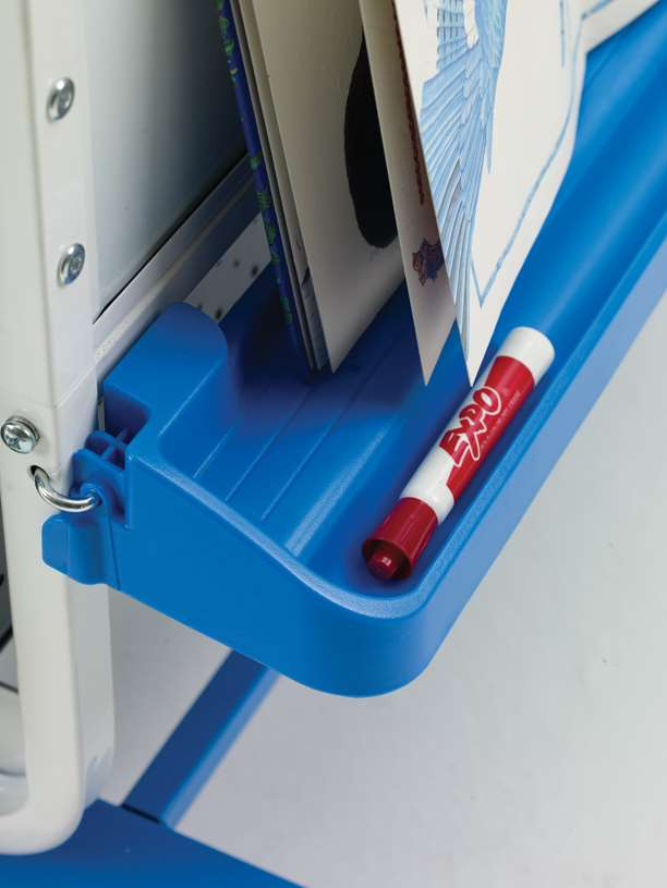 Safety-Cap premium book ledge that locks into multiple positions