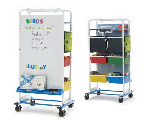 Dual Duty Teaching Easel - holds 12 iPads