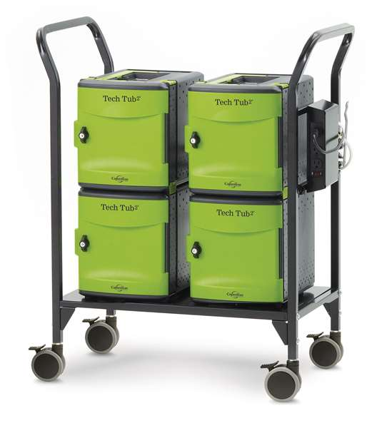 Tech Tub2 Modular Cart for up to 24 iPads with USB-C 20W Adapter