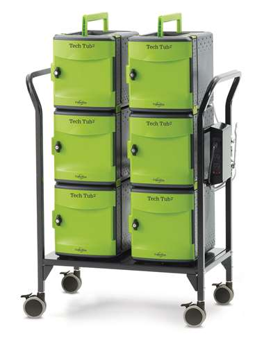 Tech Tub2 Modular Cart- holds 32 devices