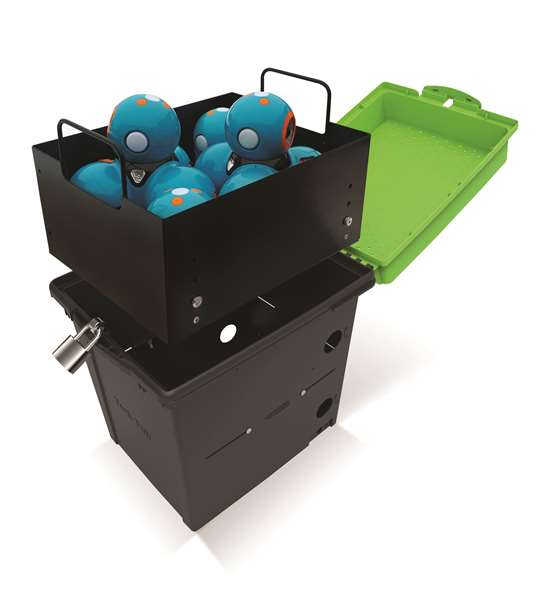 Small Robotics Storage Tub with Dash and Dots