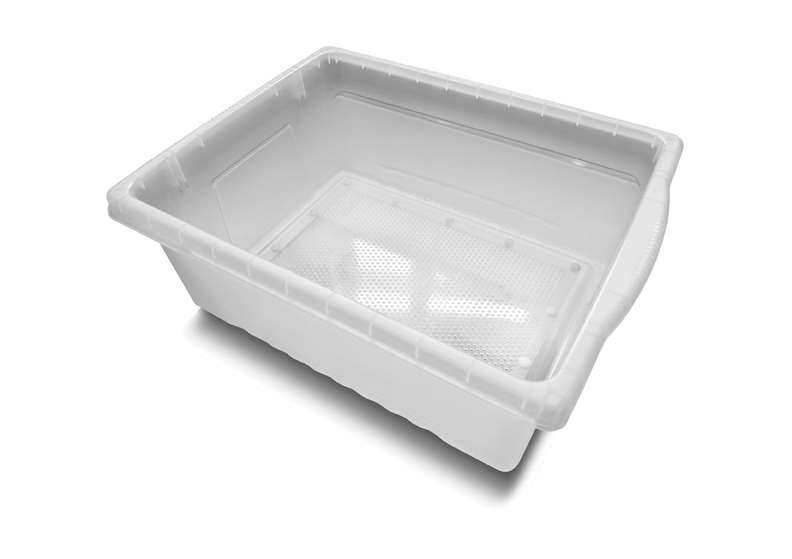 Large Open Tub (Clear) with mesh bottom