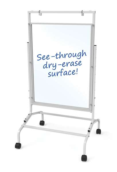 Clear Dry-Erase Single Divider  (front)