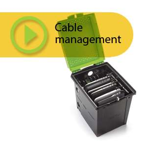 Setting up the device cables in your Tech Tub®