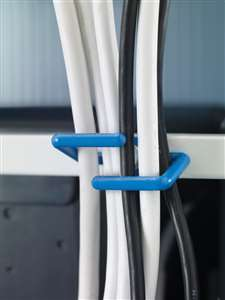 Cable hooks on back to manage cords during transport