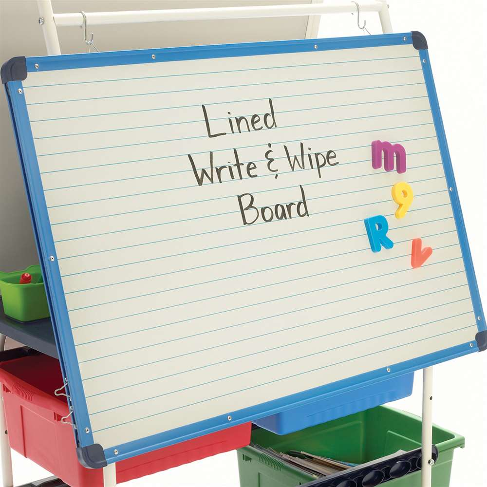 Rear lined dry erase whiteboard