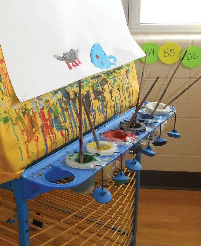 A well-used Double Sided Art Easel spotted while on location at John Galt Public School, Guelph, Ontario