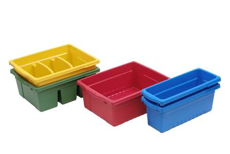 Tub pack includes: 2 Small, 1 Large, and 2 Divided Tubs