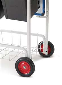 "8"" Semi-pneumatic wheels (do not require filling)"