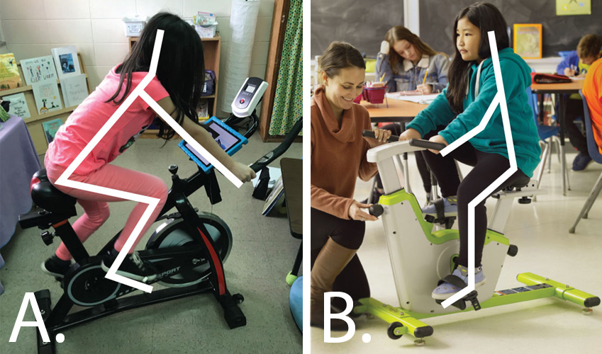 Kids stationary bike- Self-regulation Classroom Cruiser