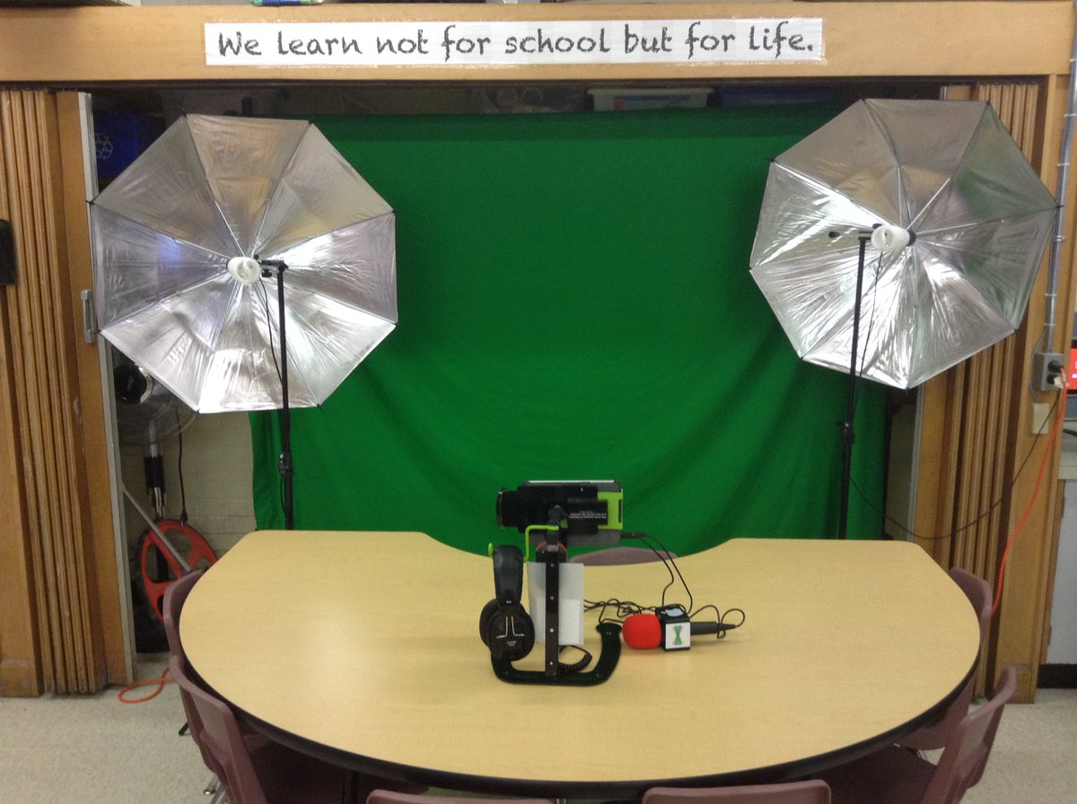 Dewey the Document Camera Stand Green Screen